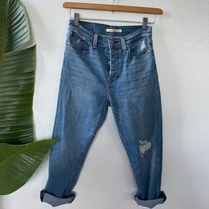 Like New! Levi's Wedgie Ankle Straight Leg Jeans